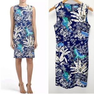 NWT J. McLaughlin Belinda Floral Bird Print Dress